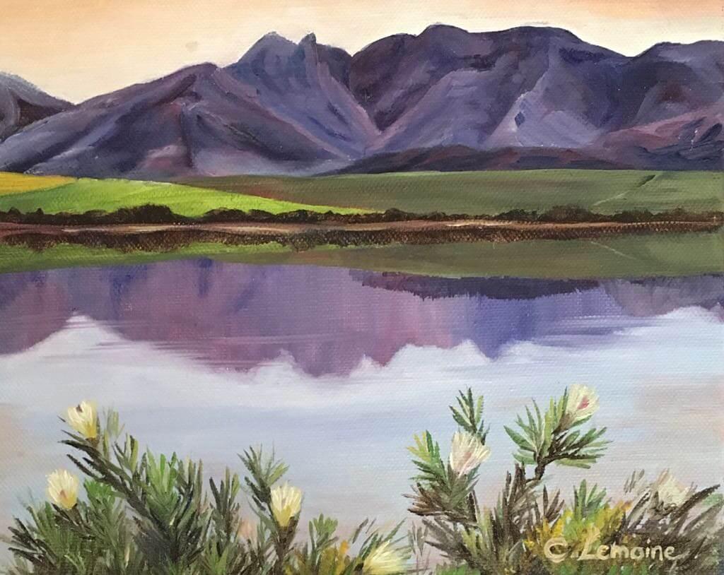 purple-mountain-and-white-proteas